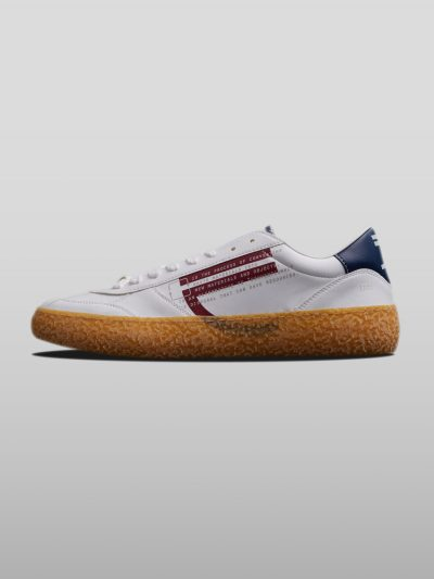 Red Vegan Ecofriendly Sneakers Cruelty-free shoes made with recycled and organic materials.Made in Italy handcrafted by expert artisans.