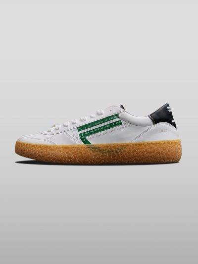 Green Vegan Ecofriendly Sneakers Cruelty-free shoes made with recycled and organic materials.Made in Italy handcrafted by expert artisans.