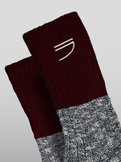 Organic cotton blue socks Handmade jumpers and socks made by 100% organic cotton from the Puraai knitwear deadstock fabric factory.
