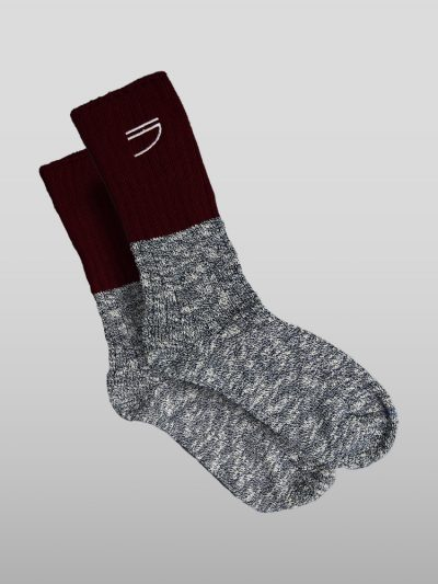 Organic cotton red socks Handmade jumpers and socks made by 100% organic cotton from the Puraai knitwear deadstock fabric factory.