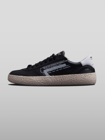 Black Vegan Ecofriendly Sneakers Cruelty-free shoes made with recycled and organic materials.Made in Italy handcrafted by expert artisans.