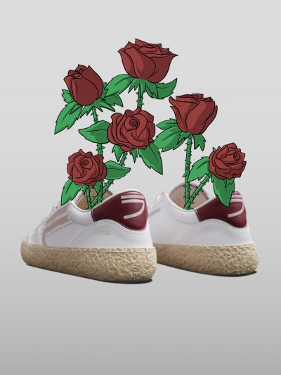 Vegan Ecofriendly Sneakers made by recycled materials, ecological processes and expert artisans approved by Peta. A connection between young design, artisanal knowledge and social responsibility.