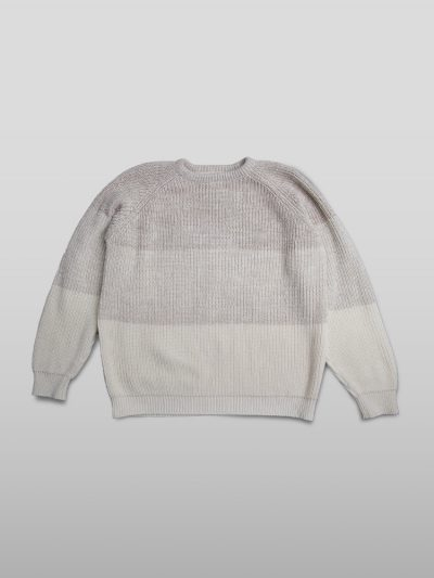 Organic cotton white jumper - Handmade jumpers and socks made by 100% organic cotton from the Puraai knitwear deadstock fabric factory.