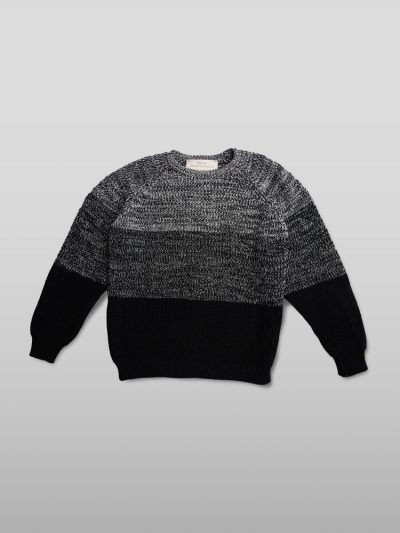 Organic cotton grey jumper - Handmade jumpers and socks made by 100% organic cotton from the Puraai knitwear deadstock fabric factory