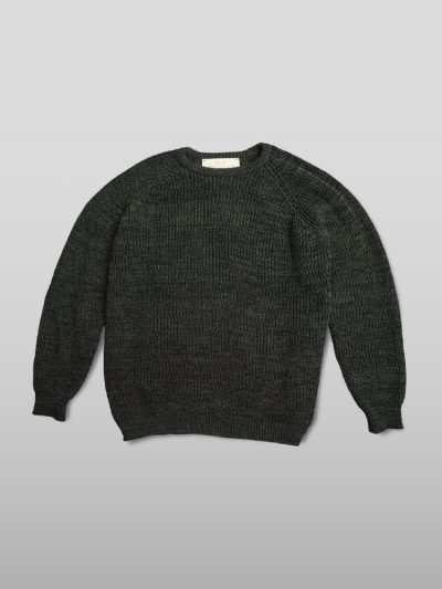 Organic cotton green jumper - Handmade jumpers and socks made by 100% organic cotton from the Puraai knitwear deadstock fabric factory