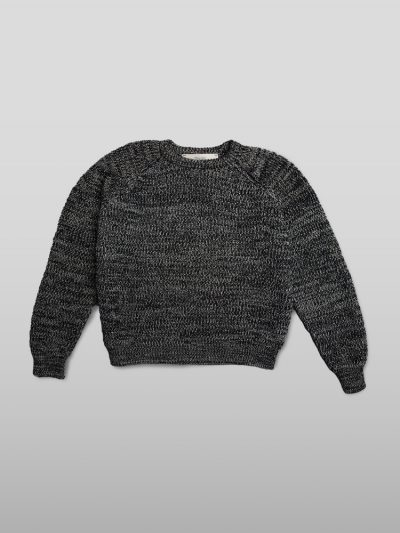 organic cotton black jumper - Handmade jumpers and socks made by 100% organic cotton from the Puraai knitwear deadstock fabric factory.