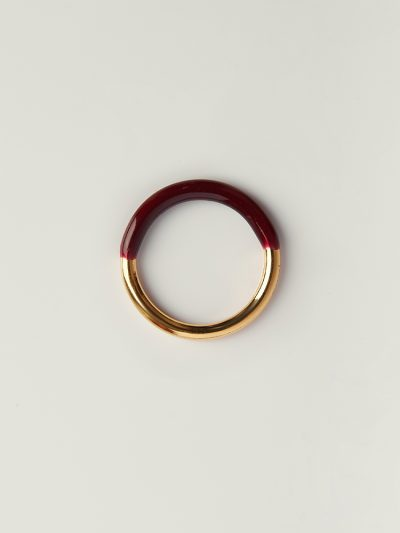 Gold bordeaux ring made in Italy - Puraai 925 silver double dipped in 18K gold plating rings 100% made inthe golden district of Italy.